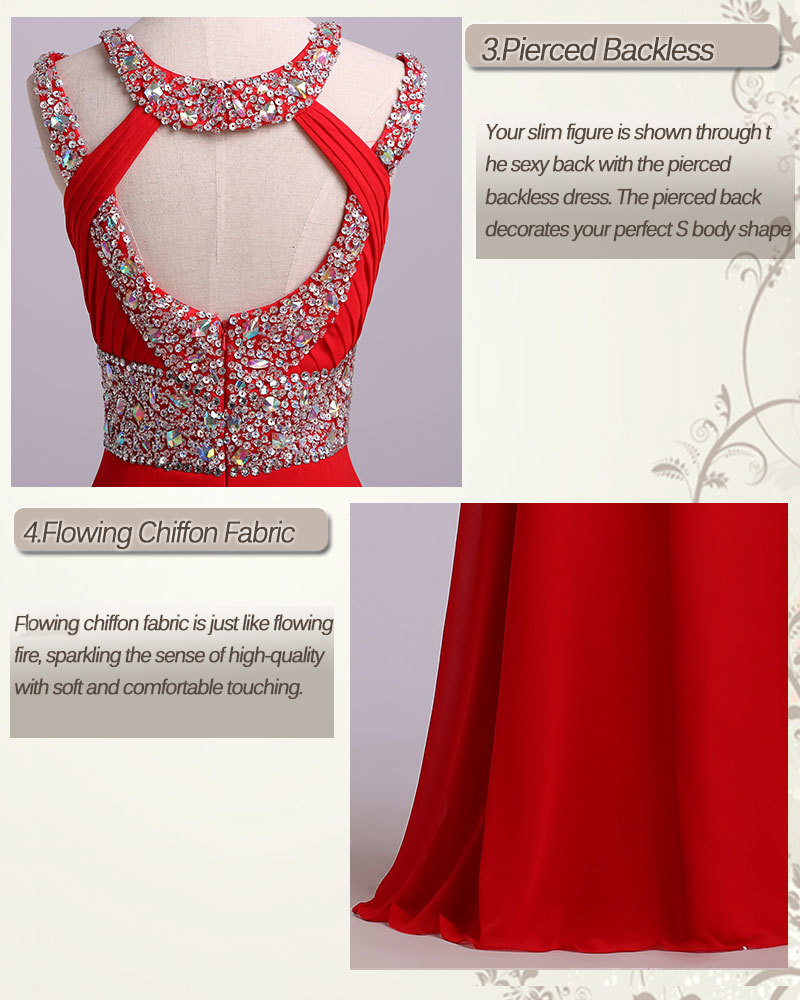 13 Sexy Abendkleider A-Linie Scoop Sweep / Pinsel rote Chiffon Open Back  ST13 US$ 13.13 PPP13DBJJ13F - PopProms.com for mobile